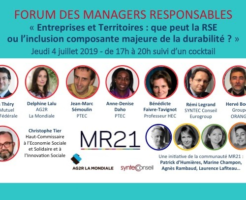 Inscription – FORUM ANNUEL MR21 2019 !
