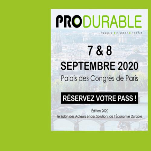 MR21 sera présent au salon PRODURABLE les 7 et 8 septembre 2020